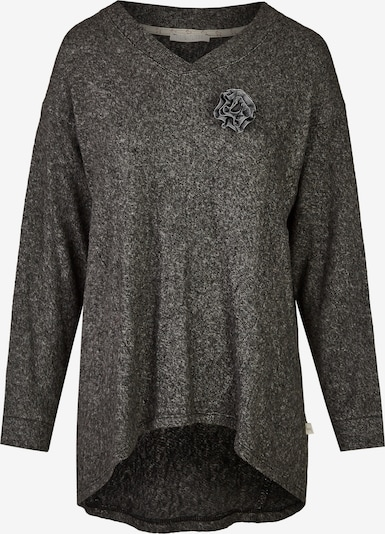 Heimatliebe Pullover in schwarzmeliert, Produktansicht