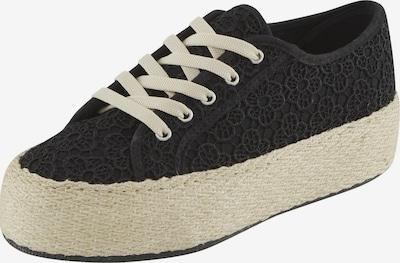 heine Sneaker in schwarz / naturweiß, Produktansicht