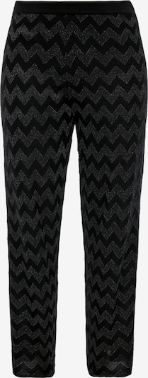 TRIANGLE Hlače | črna / srebrna barva, Prikaz izdelka