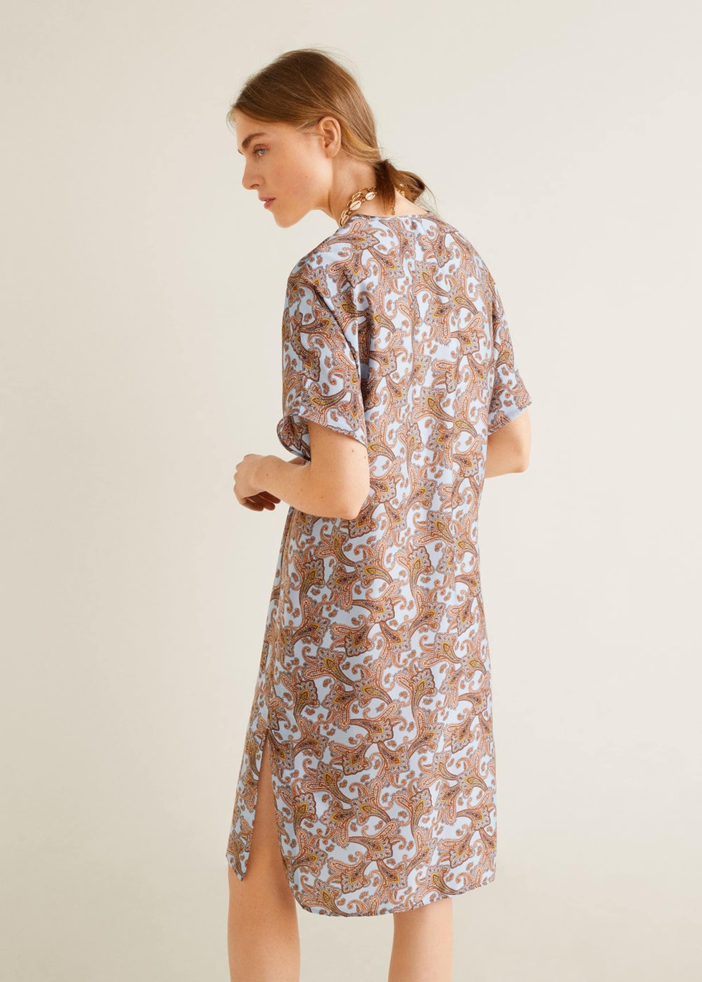Kleid Mango Kleid Pastellblauhellbraun Pastellblauhellbraun In Mango