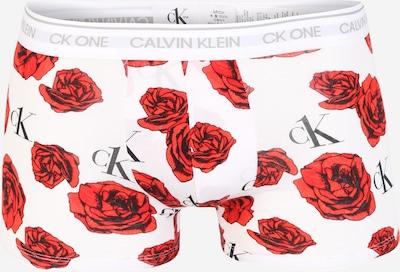 Calvin Klein Underwear Boxers 'TRUNK' en rouge / blanc, Vue avec produit