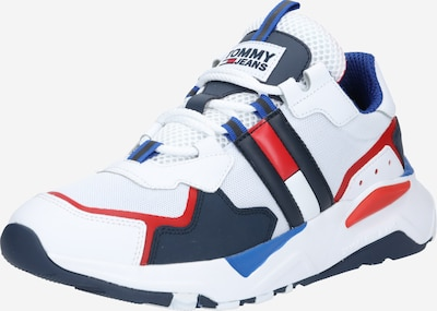 Tommy Jeans Zemie apavi pieejami kamuflāžas / sarkans / balts, Preces skats