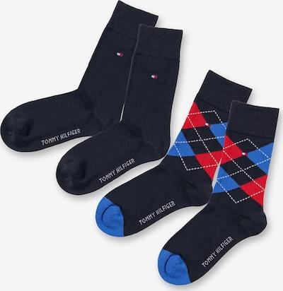 TOMMY HILFIGER Socken in blau / dunkelblau / rot, Produktansicht