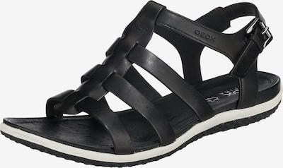 GEOX Sandales 'D SANDAL VEGA' melns / balts, Preces skats
