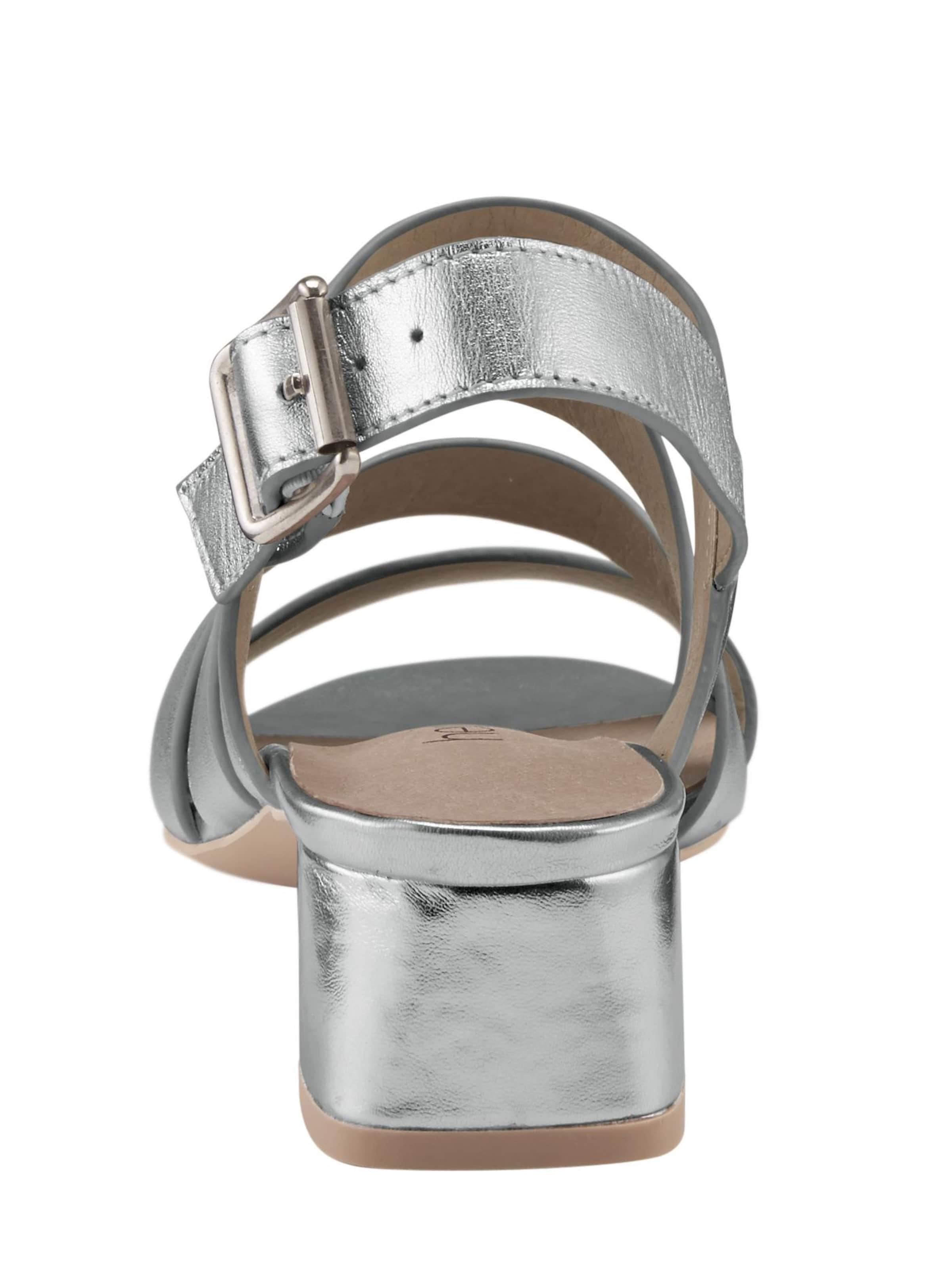 In Sandalette In Sandalette Heine Heine In Silber Sandalette Heine Heine In Silber Sandalette Silber OZiXTwPku