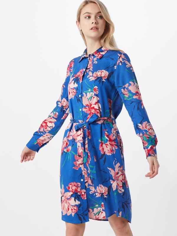 GANT Blusenkleid 'PEONIES' in kobaltblau mischfarben