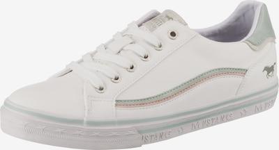 MUSTANG Sneaker in kitt / mint / pastellpink / weiß, Produktansicht