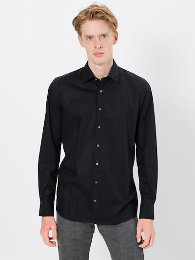 OLYMP Poslovna košulja u crna: Prednji pogled