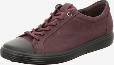 ECCO Sneakers laag in de kleur Kersrood / Zwart: Vooraanzicht