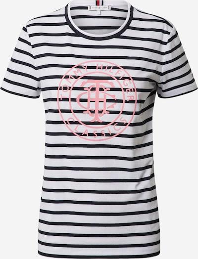 TOMMY HILFIGER T-Shirt in kobaltblau / dunkelpink / weiß, Produktansicht