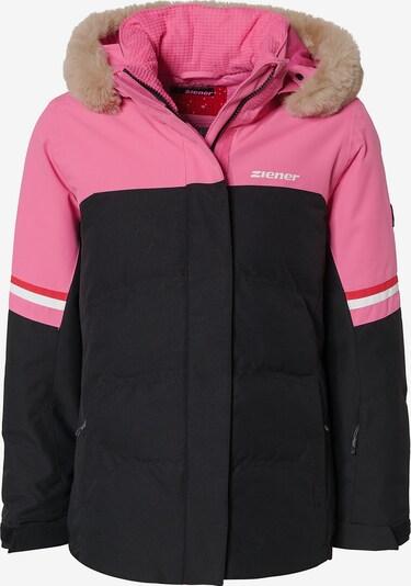 ZIENER Skijacke 'Athilda' in pink / schwarz / weiß, Produktansicht