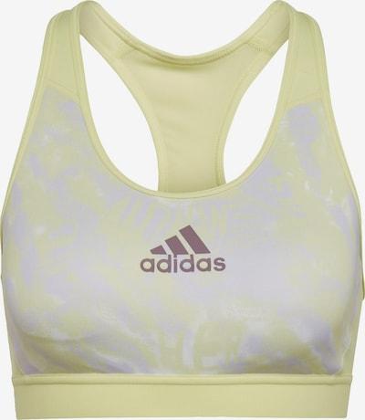 ADIDAS PERFORMANCE Sport bh in de kleur Pasteelgeel / Lichtgrijs, Productweergave