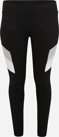 Urban Classics Curvy Leggings i grå / sort / hvid, Produktvisning