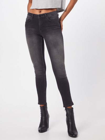 2NDDAY Jeans 'Sally Cropped Racer' in black denim, Modelansicht
