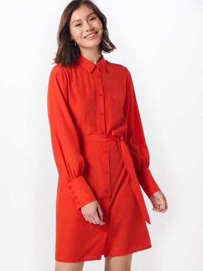OBJECT Kleid 'DOTTEO L/S SHIRT DRESS' in feuerrot, Modelansicht