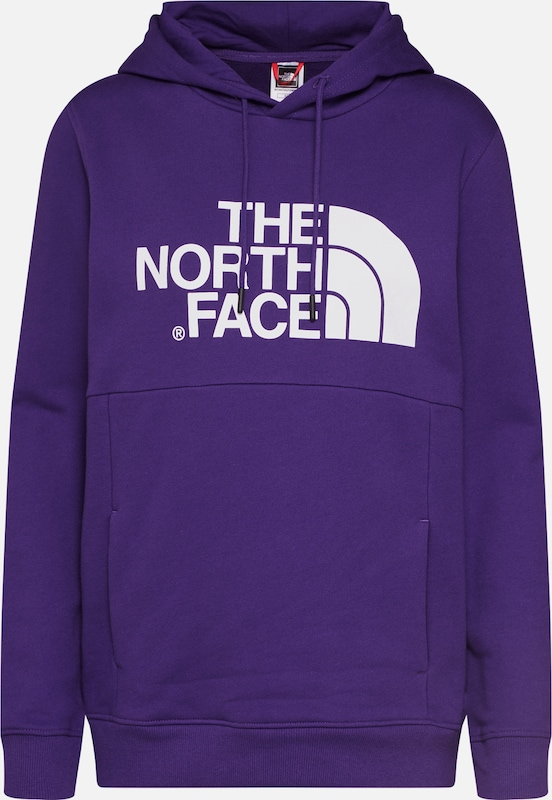 THE NORTH FACE Sweatshirt 'Drew Peak' in dunkellila / weiß, Produktansicht