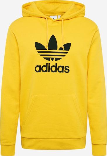 ADIDAS ORIGINALS Majica 'Trefoil' | rumena / črna barva, Prikaz izdelka