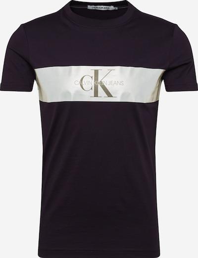 Calvin Klein Logo T-Shirt 'Reflective Stripe' in schwarz / weiß, Produktansicht
