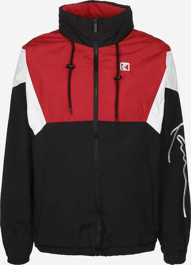 Karl Kani Trainingsjacke ' Retro Block ' in rot / schwarz, Produktansicht