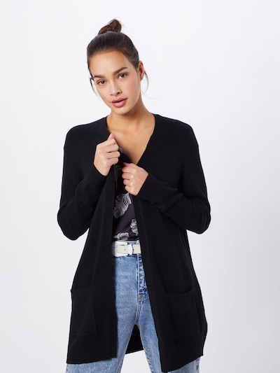 ONLY Strickjacke in schwarz: Frontalansicht