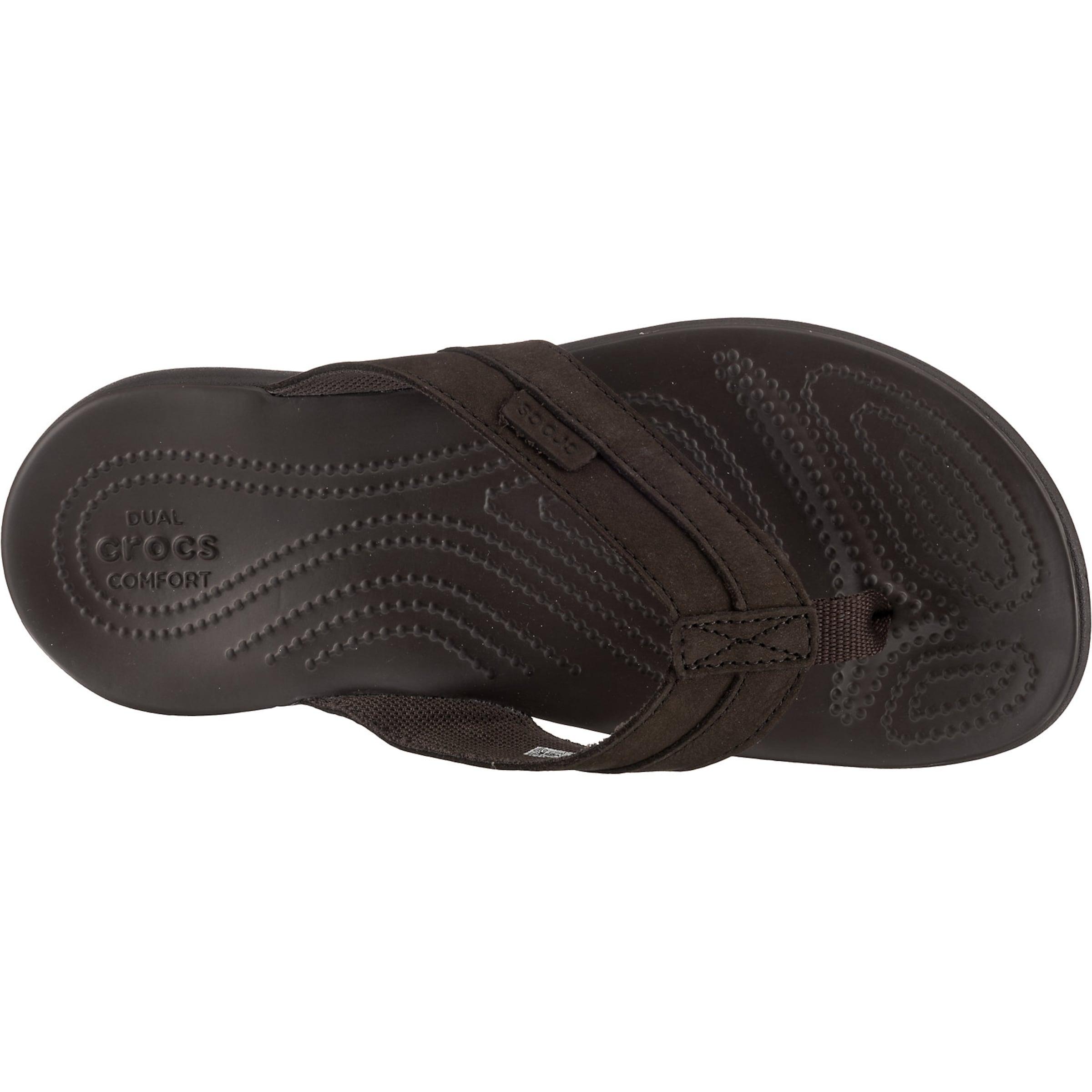 esp Santa M Braun Leather Esp Crocs Flip Zehentrenner Cruz In 8P0kNnwOX