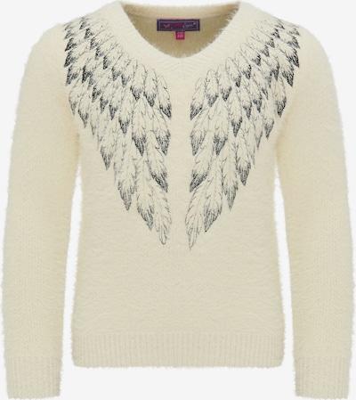 MYMO Pullover in schwarz / wollweiß, Produktansicht