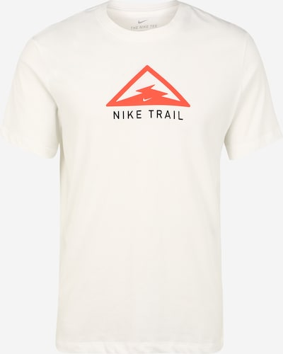 NIKE Functioneel shirt 'Trail' in de kleur Crème / Lichtrood, Productweergave