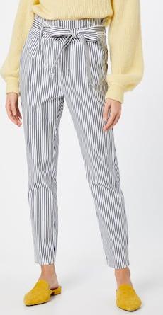 VERO MODA nohavice Vmeva v modrej/bielej farbe