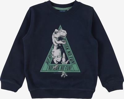 Sanetta Kidswear Sweatshirt in blau / grün / weiß, Produktansicht