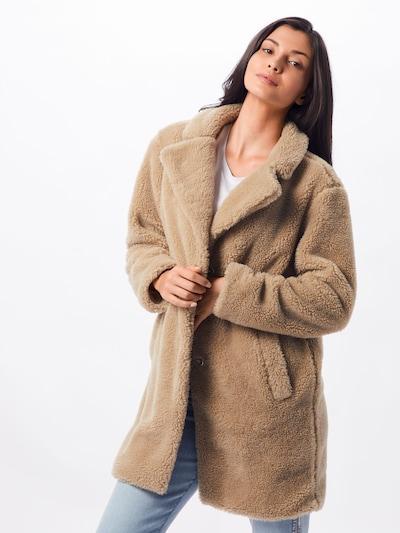 Urban Classics Wintermantel 'Sherpa' in de kleur Sand, Modelweergave