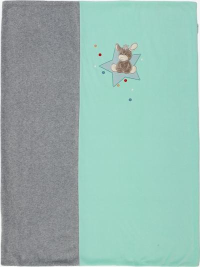STERNTALER Kocyk dla niemowlaka 'Emmi' w kolorze nakrapiany szary / miętowy / mieszane kolorym, Podgląd produktu