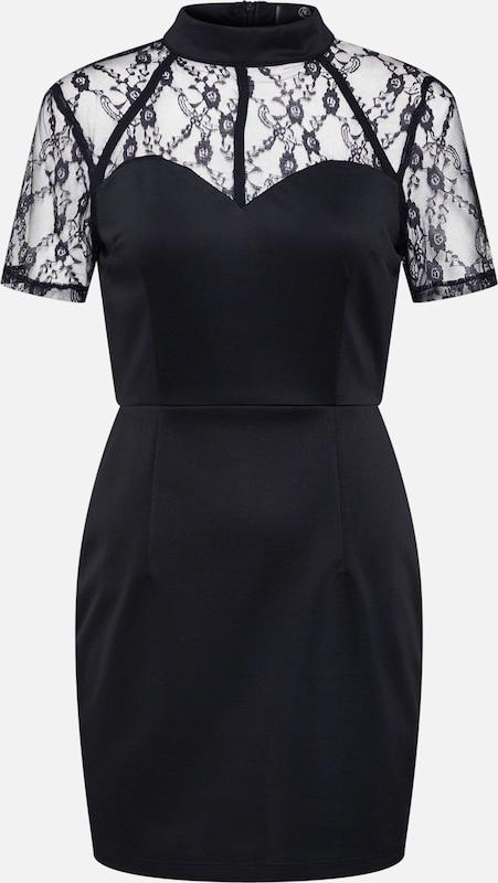 Dress' 'lace Harness Neckline Mini Sweetheart Noir Detail Missguided Robe En OZuXPki