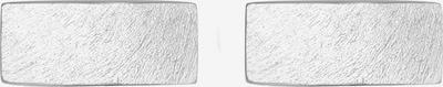 PAULO FANELLO Manschettenknopf 'Geo, Rechteck' in silber, Produktansicht