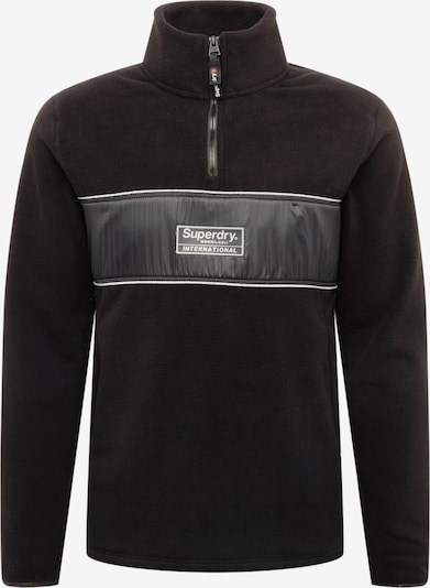 Superdry Fleecepullover 'POLAR INTERNATIONAL TRACK' in schwarz, Produktansicht