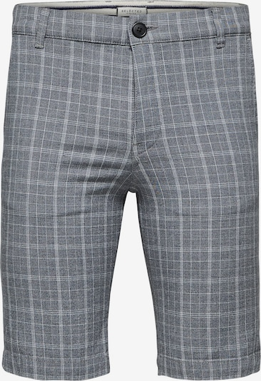 SELECTED HOMME Shorts in grau / weiß: Frontalansicht