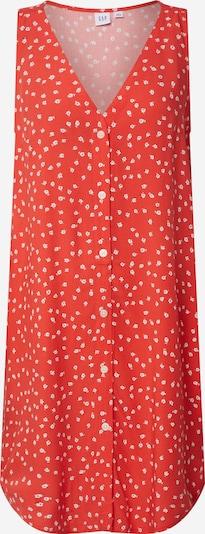 GAP Kleit 'V-SL BTN SHFT DRESS' punane / valge, Tootevaade