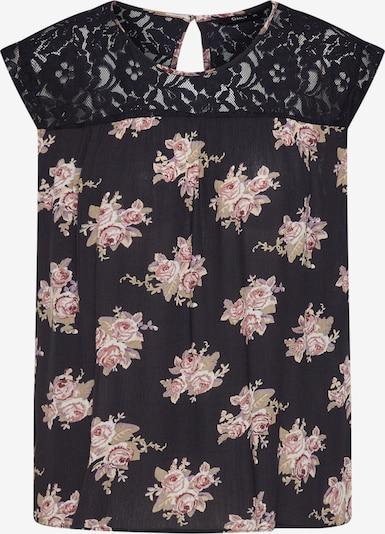ONLY Bluse 'EMMA KARMEN' in rosa / schwarz, Produktansicht