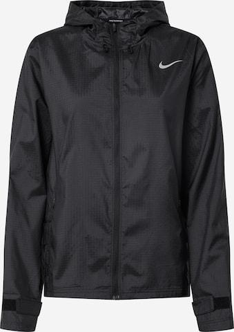 NIKE Αθλητικό μπουφάν 'Essential' σε μαύρο