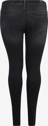 ONLY Carmakoma Jeans 'CARWILLY' in black denim: Rückansicht