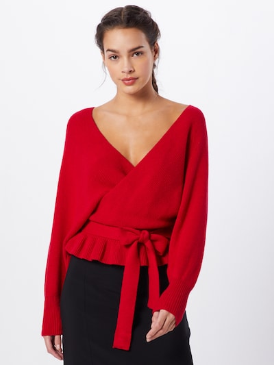 Parallel Lines Pullover 'Jumper' in rot, Modelansicht