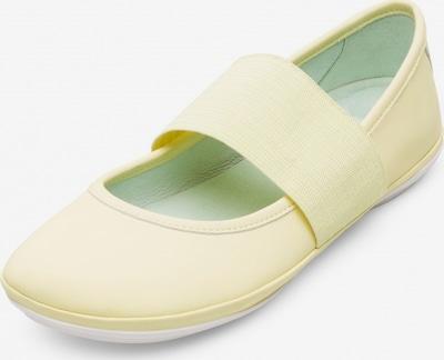 CAMPER Ballerines à lanières ' Right ' en jaune pastel, Vue avec produit