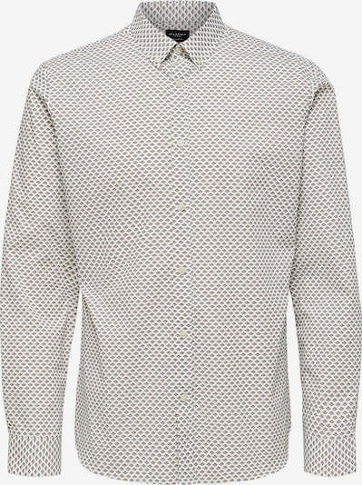 SELECTED HOMME Hemd in hellbraun / weiß, Produktansicht