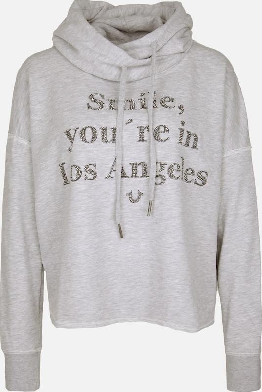 True Religion Sweatshirt 'SMILE' in grau, Produktansicht