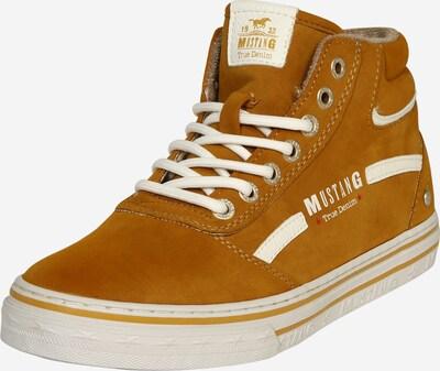 Sneaker înalt MUSTANG pe galben auriu / alb, Vizualizare produs