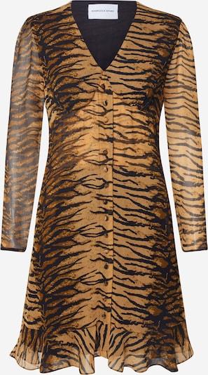 THE KOOPLES SPORT Kleid 'ROBE' in braun / schwarz, Produktansicht