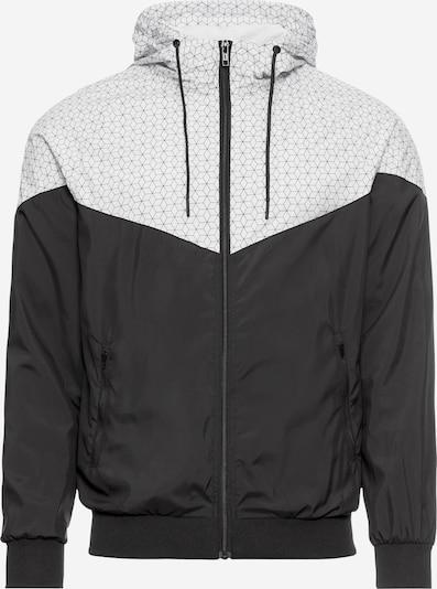 Urban Classics Tussenjas 'Pattern Arrow Windrunner' in de kleur Zwart / Wit, Productweergave