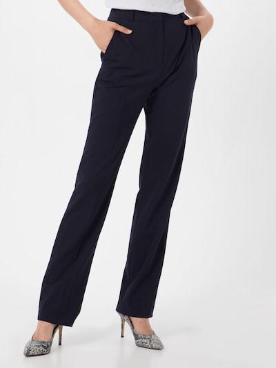 Pantaloni cu dungă HUGO pe navy: Privire frontală
