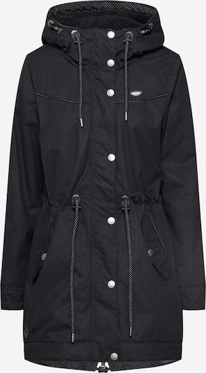 Ragwear Tussenparka 'CANNY' in de kleur Zwart: Vooraanzicht