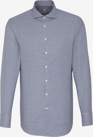 Jacques Britt Business Hemd 'Custom Fit ' in blau: Frontalansicht