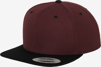Flexfit Cap in burgunder / schwarz, Produktansicht